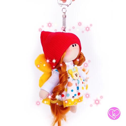 Little Miss Sunshine - Ready to go - Handmade Doll Keychain