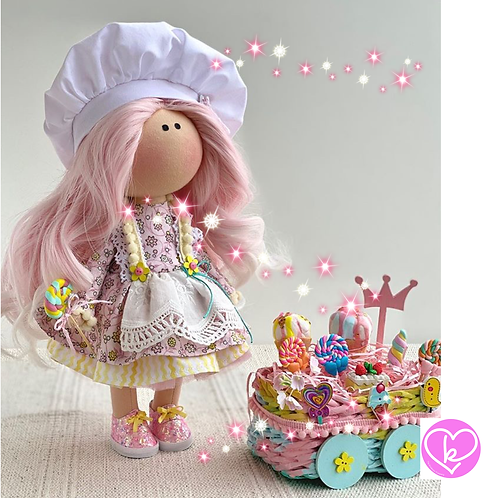 Sweeties are my favourite - Ready to Go Handmade Doll - 2020 Collection