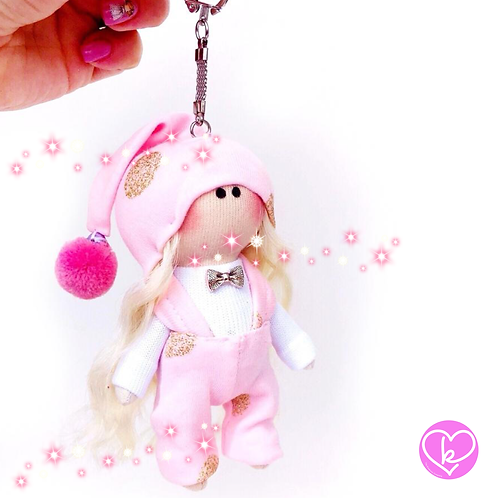 Little Miss Hope - Made to Order - Handmade Doll Keychain