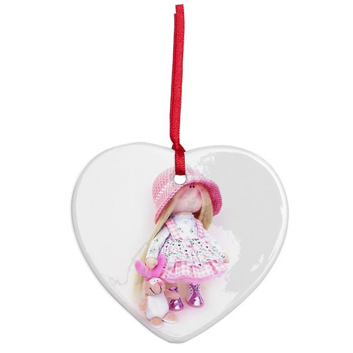 Lolly - Heart Shaped - Christmas Decoration