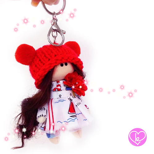 Little Miss Considerate - Made to Order - Handmade Doll Keychain