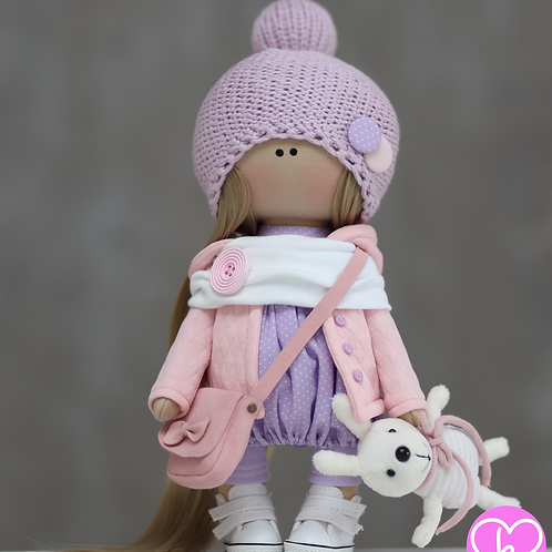 April - Ready to Go - Handmade Doll - 2021 Collection