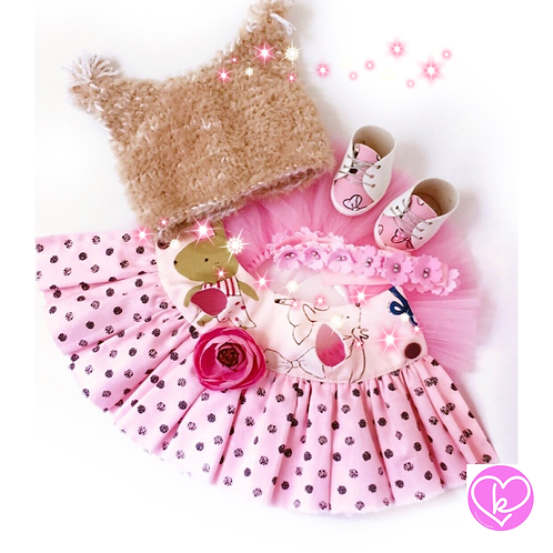 Pink Dotty - Made to Order - Extra Outfit Set