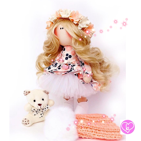 Pretty Poppy - Ready to go - Handmade Doll