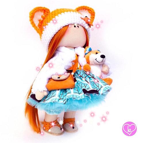 Pretty Flora - Ready to go - Limited Edition Handmade Doll