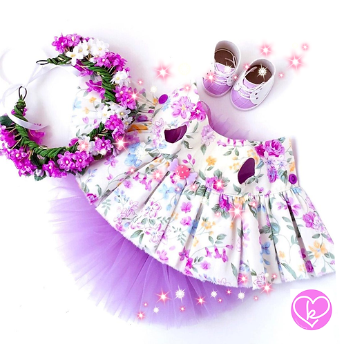 Lilac ditsy - Made to Order - Extra Outfit Set