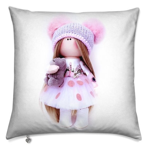 Little Miss Curious -  Scatter Cushion