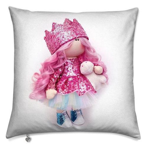 Rainbow Unicorn Girl -  Scatter Cushion