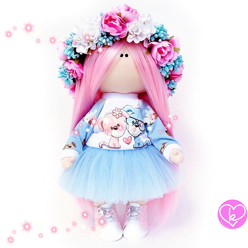 Gorgeous Peony - Made to Order - Handmade Doll