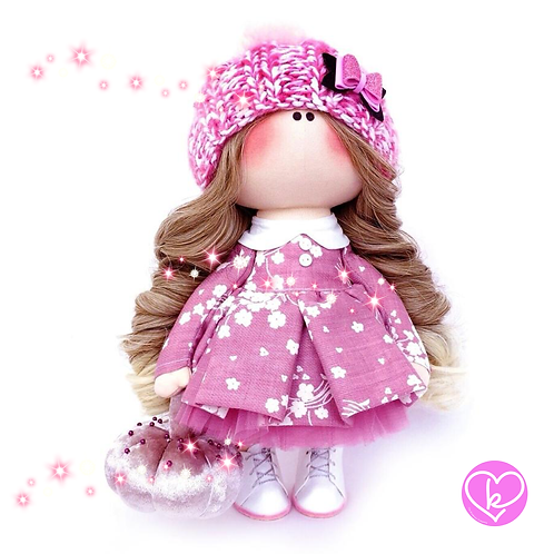 Pretty Flower Fairy - Made to Order - Handmade Doll