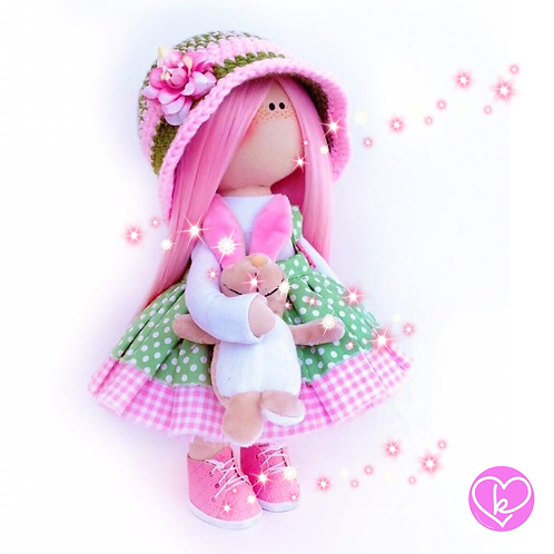 Beautiful Lilly - Made to Order - Handmade Doll