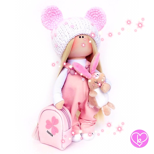 Pretty Rosy - Made to Order - Handmade Doll