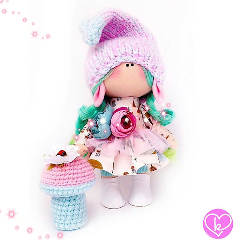 Gnomette - Made to Order - Handmade Doll