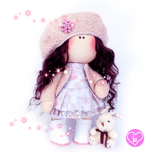 Little Miss Sparkle - Made to Order - Handmade Doll