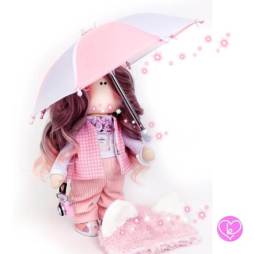 Pretty April  - Ready to go - Handmade Doll