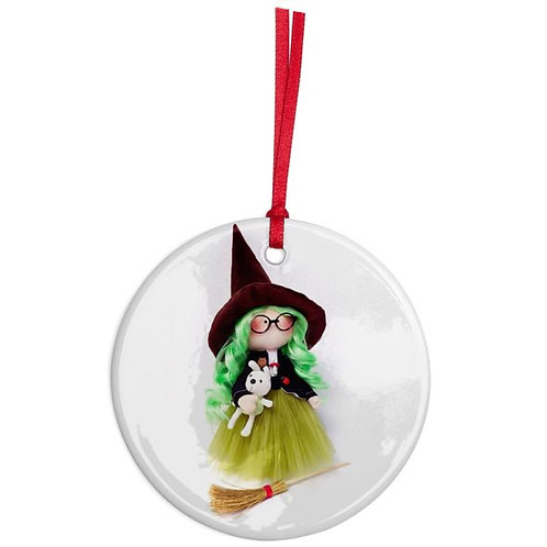 Good Witch - Round Shaped - Christmas Decoration
