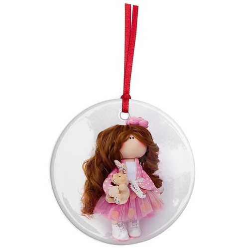 Little Miss Kind - Round Shaped - Christmas Decoration