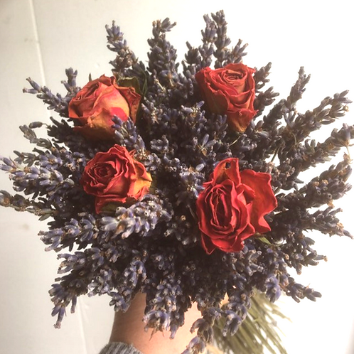 Stunning Lavender and Rose Bouquet - Handtied