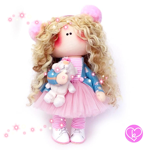 Pretty Polly - Made to Order - Handmade Doll
