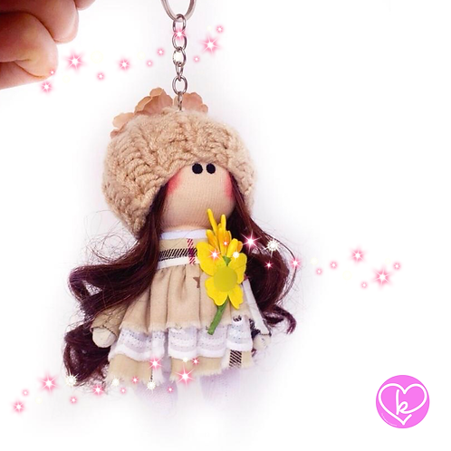 Petal - Made to Order - Handmade Doll Keychain