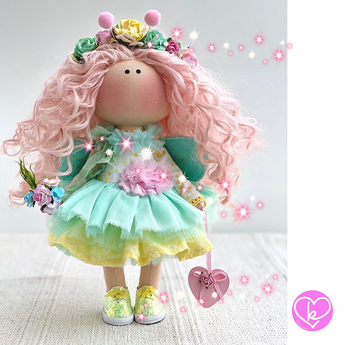 Pretty Butterfly - Ready to Go Handmade Doll - 2020 Collection