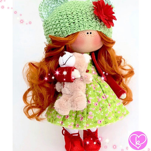 Is it too early to think about Christmas - Made to Order - Handmade Doll