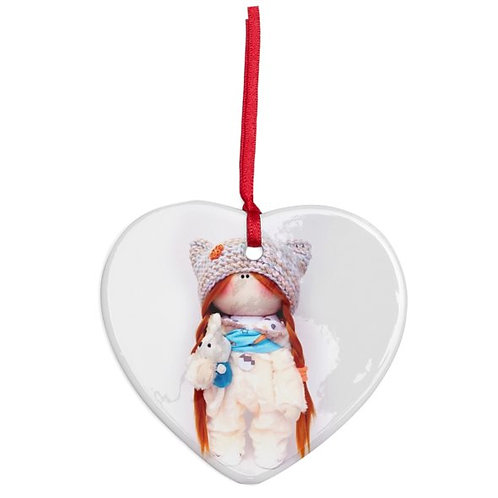 Betty - Heart Shaped - Christmas Decoration