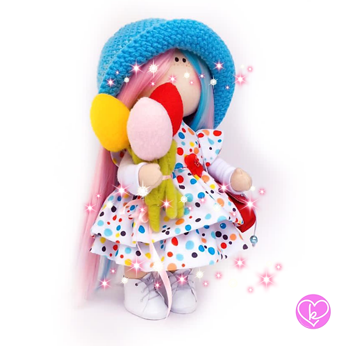 Bubbles  - Ready to go - Limited Edition Handmade Doll