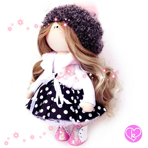 Pretty Nell - Made to Order - Handmade Doll