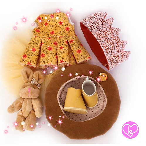 Pretty Mustard Set - Made to Order - Extra Outfit Set