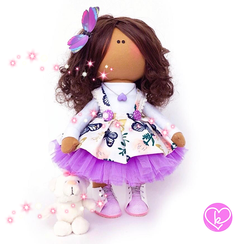 Beautiful Aaliyah - Made to Order - Handmade Doll