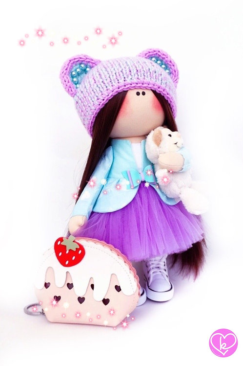 Im off for a fairy tale adventure - Made to Order - Handmade Doll