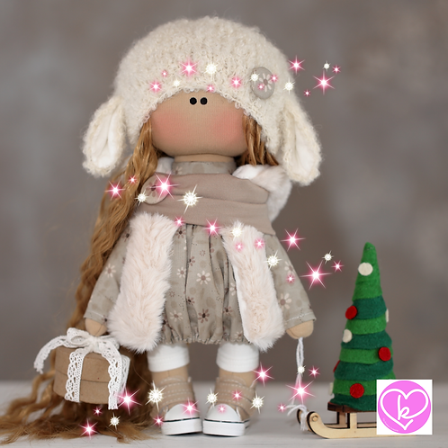 Pretty April - Ready to Go - Handmade Doll - 2020 Collection