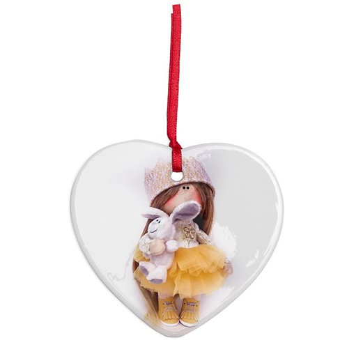 Golden Crowns - Heart Shaped - Christmas Decoration