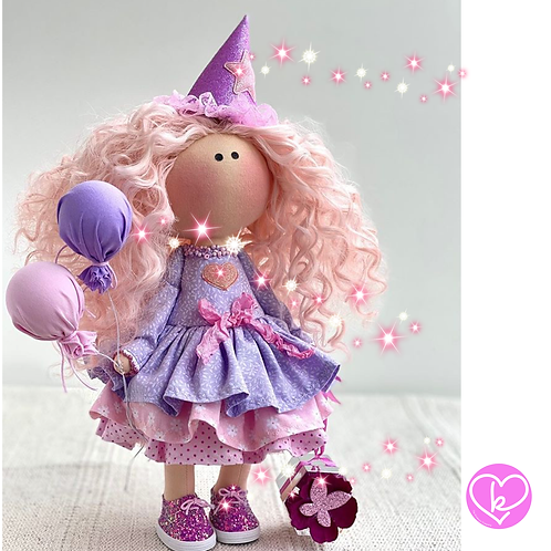 Happy Birthday Girl - Ready to Go Handmade Doll - 2020 Collection