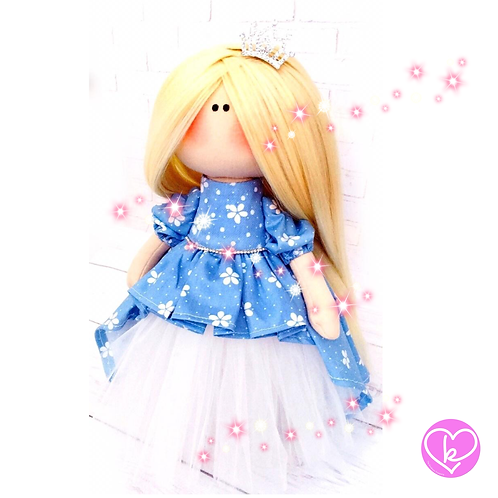 Beautiful Queen Elana - Made to Order - Handmade Doll