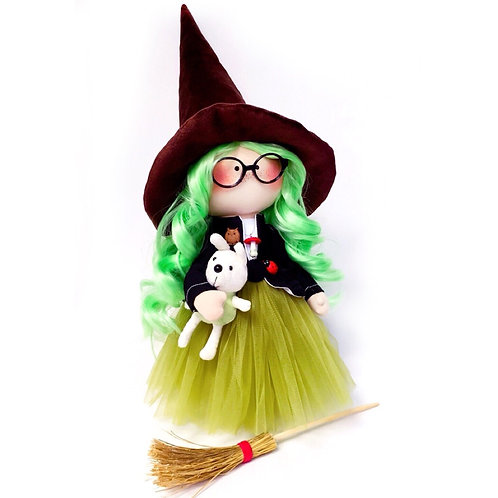 Limited Edition: Green Magical Witches Doll - Collectors Edition