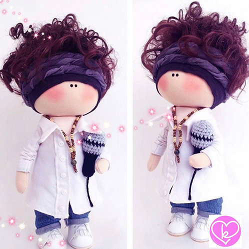 Its time to get my Mic on - Made to Order - Handmade Doll