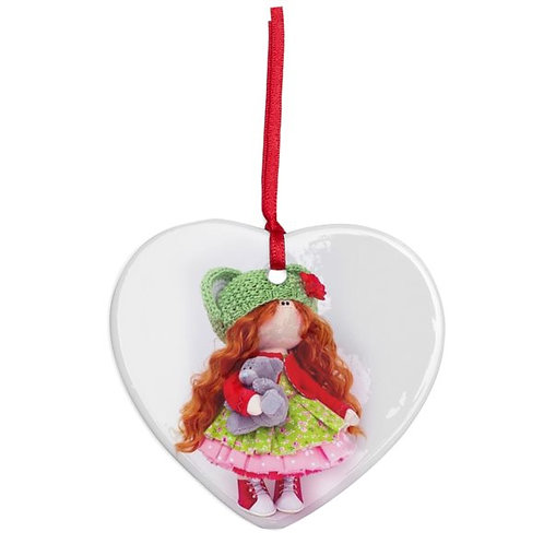 Little Miss Christmas - Heart Shaped - Christmas Decoration
