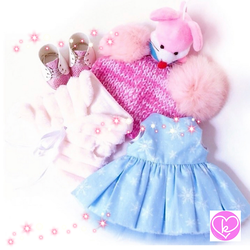 Sparkly Snowflake - Made to Order - Extra Outfit Set