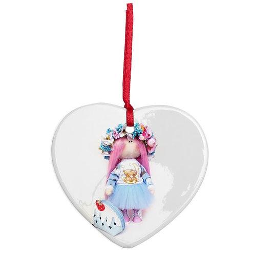 Peony - Heart Shaped - Christmas Decoration