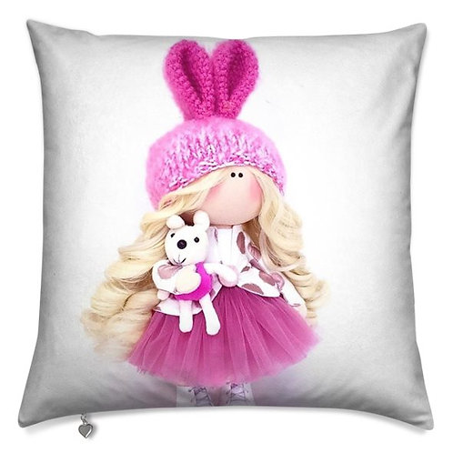 My Pink Bunny Scatter Cushion