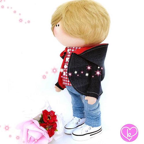 I really doooo love you ❤️- Made to Order - Handmade Doll