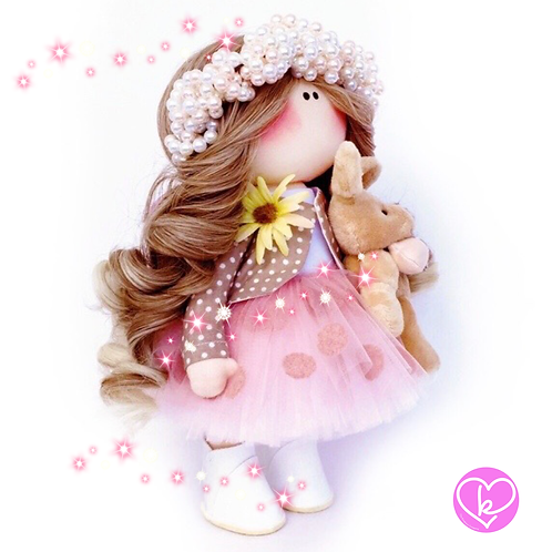 Pearls for Winter - Made to Order - Handmade Doll