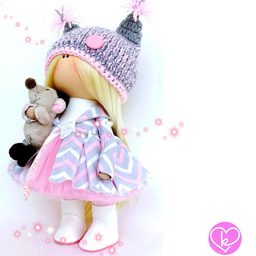 Pretty Flo - Made to Order - Handmade Doll