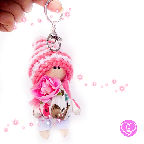 Little Miss Individual - Made to Order - Handmade Doll Keychain