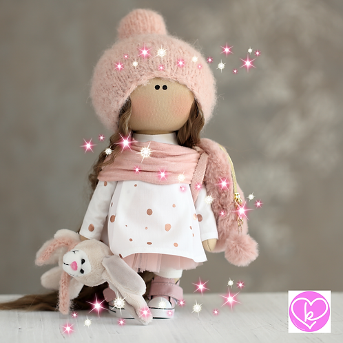 Lovely Loretta - Ready to Go - Handmade Doll - 2020 Collection