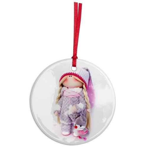 Beautiful Boo - Round Shaped - Christmas Decoration