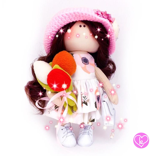 Flora  - Ready to go - Limited Edition Handmade Doll