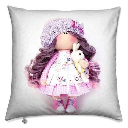 Purple and Pink Brightens up a Cloudy Day Scatter Cushion
